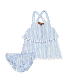 7 FOR ALL MANKIND Baby Girls Tiered Dress