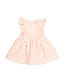 CATHERINE MALANDRINO Baby Girl Button Back Dress