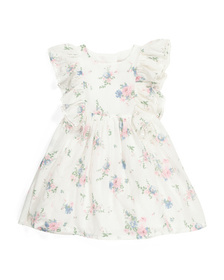 CATHERINE MALANDRINO Toddler Girls Floral Ruffle D