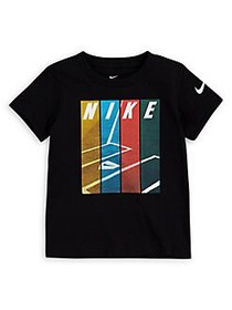 Nike Little Boy's Short-Sleeve Graphic Tee BLACK