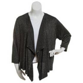 Plus Size Ruby Rd. Must Haves Open Front Cardigan