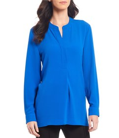 Vince Camuto Mandarin Collar Long Sleeve Henley To