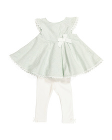 CATHERINE MALANDRINO Baby Girls Embroidered Tunic