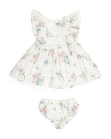 CATHERINE MALANDRINO Baby Girls Ruffle Dress & Blo