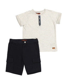 7 FOR ALL MANKIND Little Boys Henley And Shorts Se