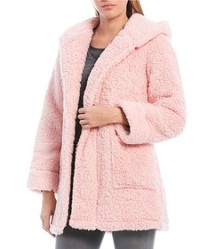 Jasmine & Ginger Cozy Fleece Hoodie Short Robe