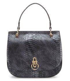 Gianni Bini Snake Saddle Top Handle Satchel Bag