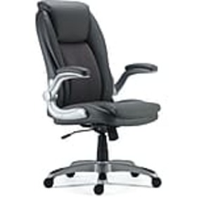 Staples Sorina Bonded Leather Chair, Grey (53253)