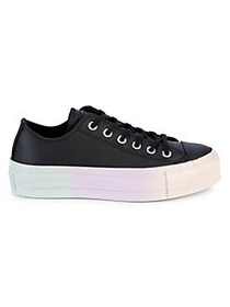 Converse Women's All Star Faux Leather Platform Sn