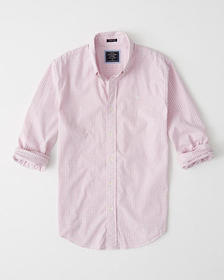 Super Slim Poplin Shirt, LIGHT PINK CHECK WITH MOO