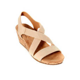 Womens LifeStride Mexico Wedge Sandals - Bone