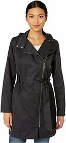 Vince Camuto Asymmetrical Belted Hooded Trench V10
