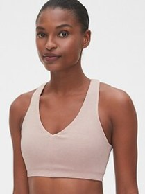Gap Fit Low Support Ribbed Racerback Sports Bra in