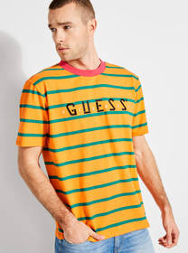 GUESS x J Balvin Oversized Striped Logo Tee