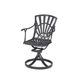 Largo Patio Swivel Dining Chair in Charcoal - Home