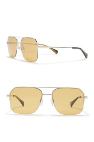 RAEN Munroe 55mm Square Aviator Sunglasses