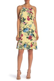 J.O.A. Floral Ruffle Dress