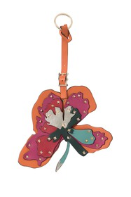 Valentino Leather Studded Flower Bag Charm