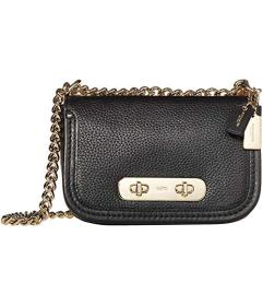 COACH Pebbled Leather Coach Swagger 20 Shoulder Ba