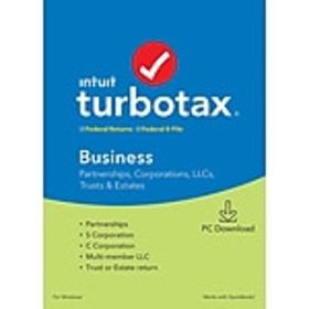Intuit TurboTax Business Fed and E-File 2019 for 1