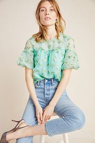 Anthropologie Sabine Beaded Blouse
