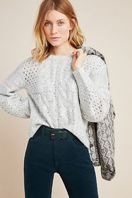 Anthropologie Rosita Cable-Knit Sweater
