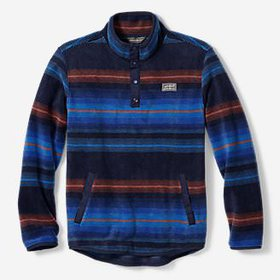 Boys' Quest Fleece Snap-Neck Pullover - Stripe