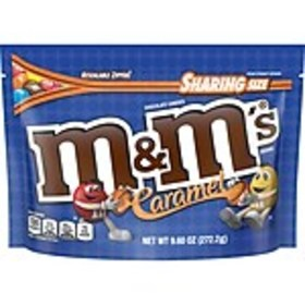 M&MS Caramel Chocolate Candy Sharing Size Candy Ba