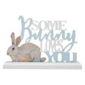 K&K Interiors Some Bunny Love You Table Top with B