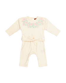 7 FOR ALL MANKIND Baby Girls Embroidered Romper