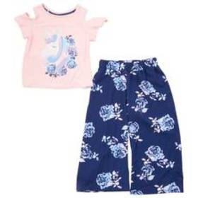 Girls (4-6x) One Step Up 2pc. Unicorn Top & Floral