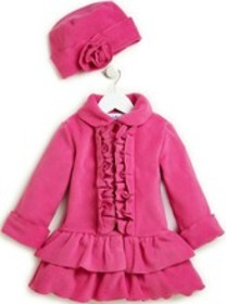 Stride Rite Ruffle Front Jacket with Hat