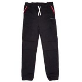 BEN SHERMAN Boys Black Moto Accent Fleece Joggers