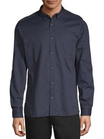 C/M by Como Man Men's Pigment Dyed Twill Shirt