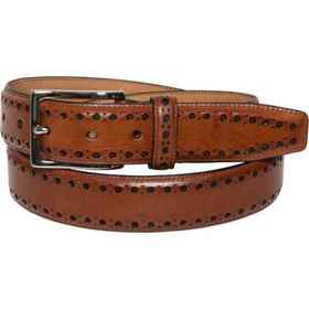 Cole Haan 35mm Feather Edge Stitch Belt - Leather