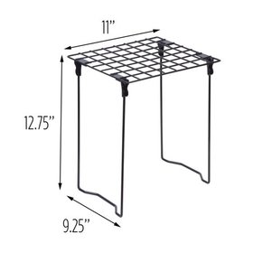 Honey Can Do Stackable Steel Folding Locker Shelf,