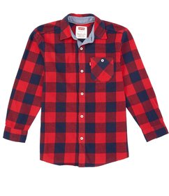 Levi's® Big Boys 8-20 Plaid Long Sleeve Woven Butt