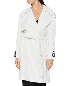BCBGMAXAZRIA - Aurora Pinstriped Trench Coat