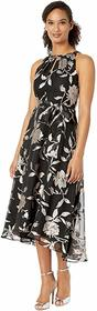 Tahari by ASL Ruched Neck High-Low Skirt