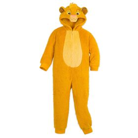 Disney Simba Fleece Bodysuit Pajamas for Kids