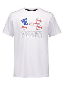 Under Armour Boy's Americana Logo Graphic Surf Tee
