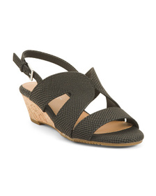 AEROSOLES Comfort Cork Wedge Sandals