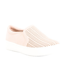 DR. SCHOLL'S Slip On Sneakers With Perforated Deta