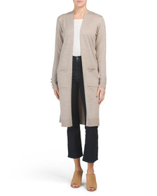 CYRUS Long Duster Cardigan With Pockets