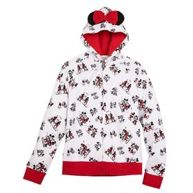 Disney Mickey and Minnie Mouse Zip Hoodie for Adul