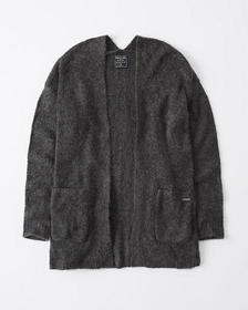 Open-Front Cardigan, DARK GREY