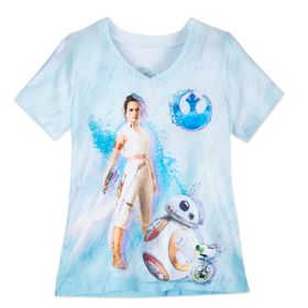 Disney Rey V-Neck T-Shirt for Girls – Star Wars: T