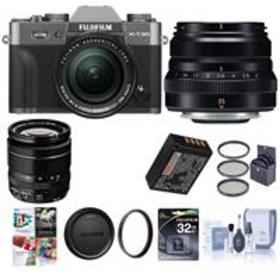 Fujifilm X-T30 Mirrorless Charcoal Camera with XF