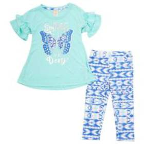 Girls(4-6x) One Step Up 2pc. Butterfly Top & Leggi