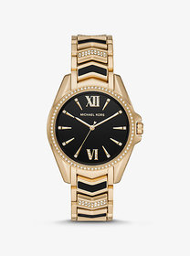 Michael Kors Whitney Gold-Tone and Enamel Watch